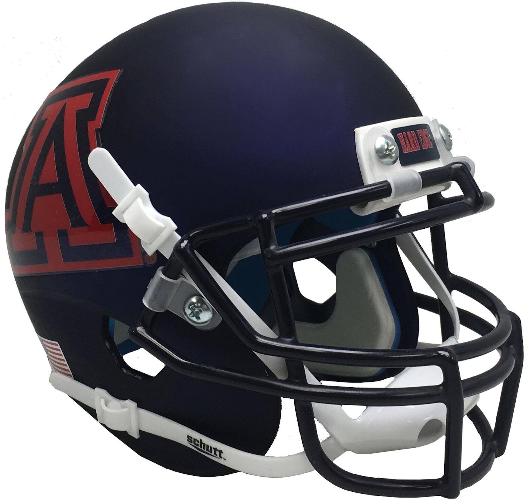 Arizona Wildcats Full XP Replica Football Helmet Schutt <B>Matte Navy</B>