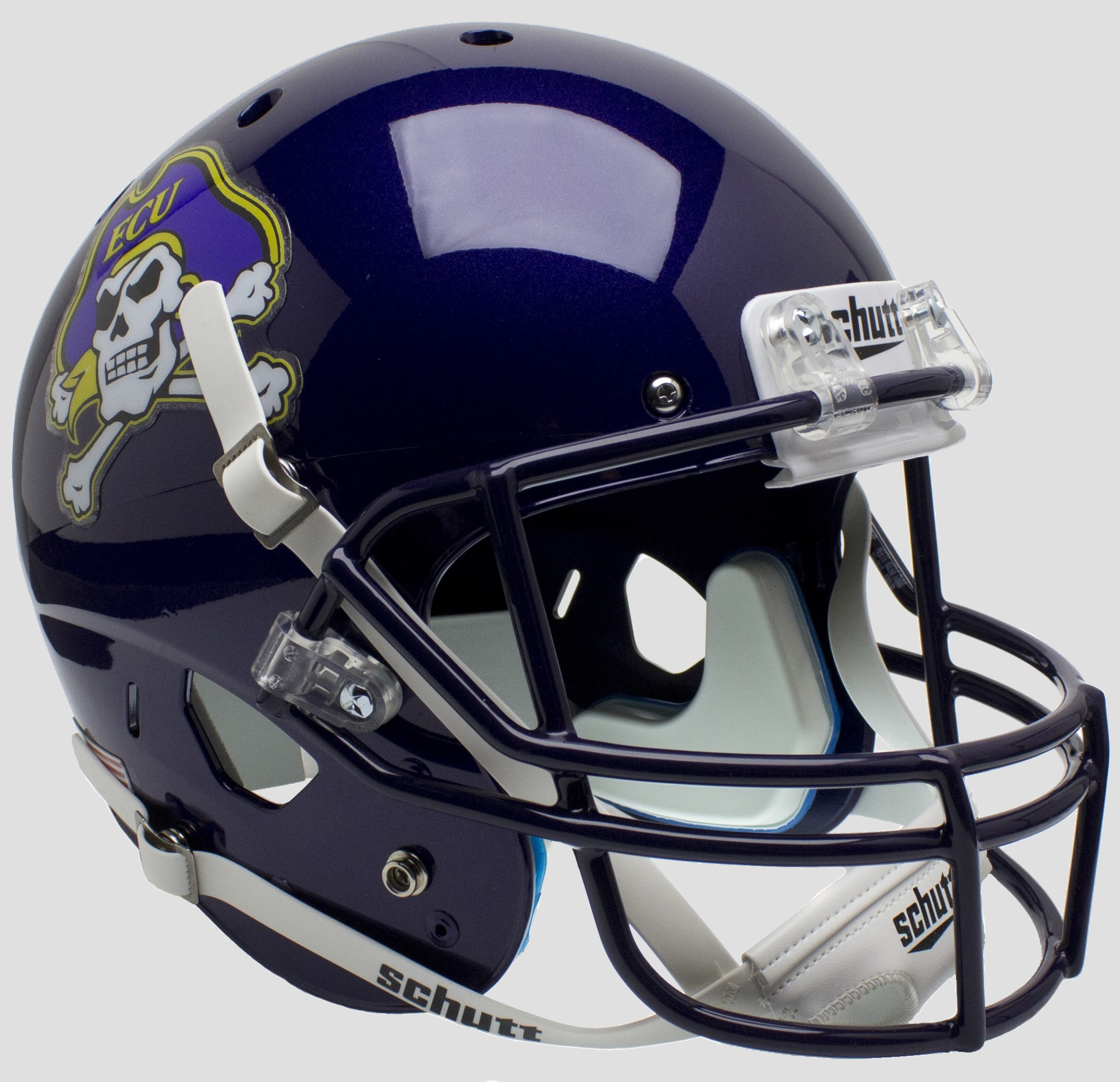 East Carolina Pirates Full XP Replica Football Helmet Schutt <B>Black Mask</B>