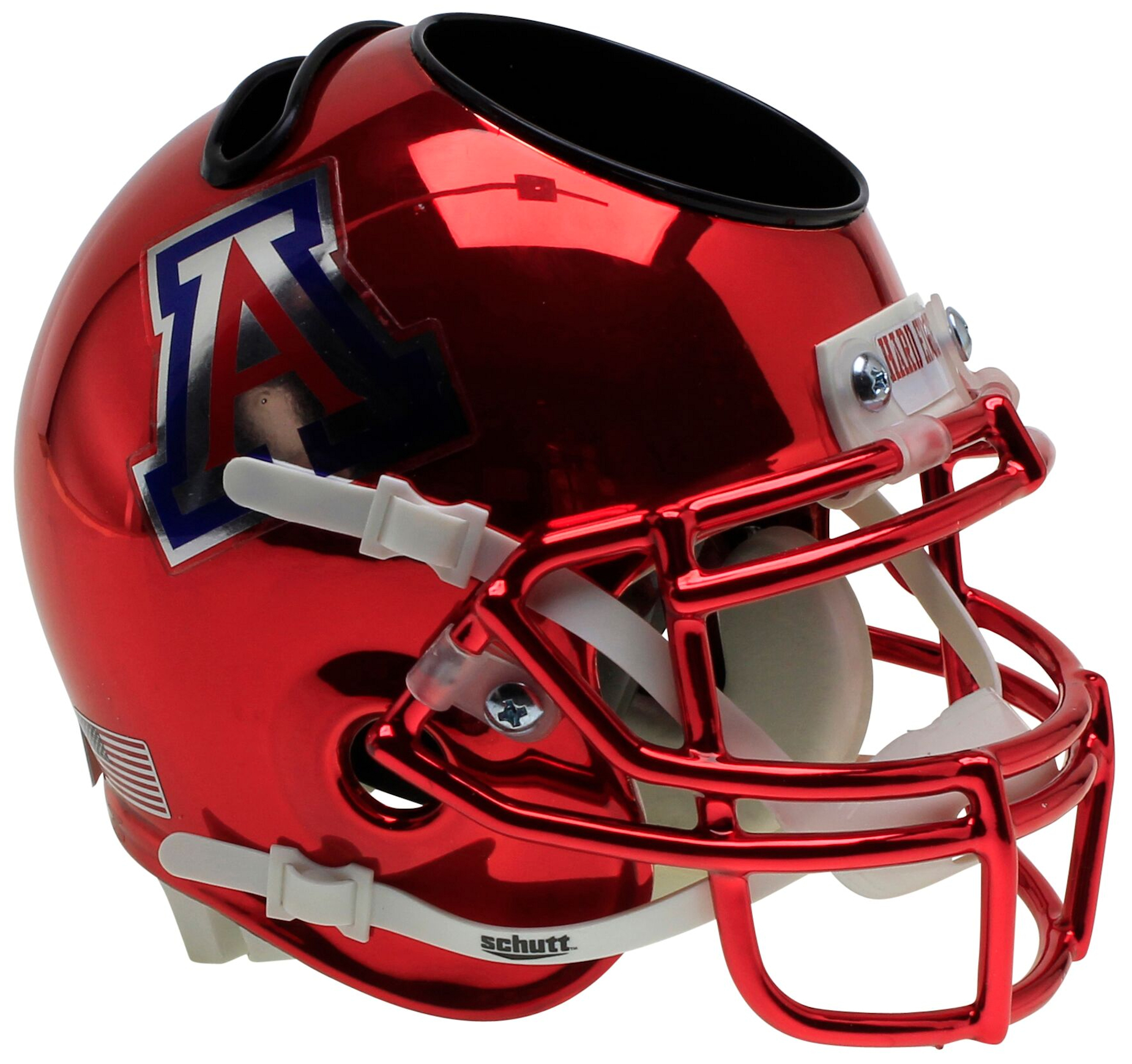 Arizona Wildcats Miniature Football Helmet Desk Caddy <B>Chrome</B>