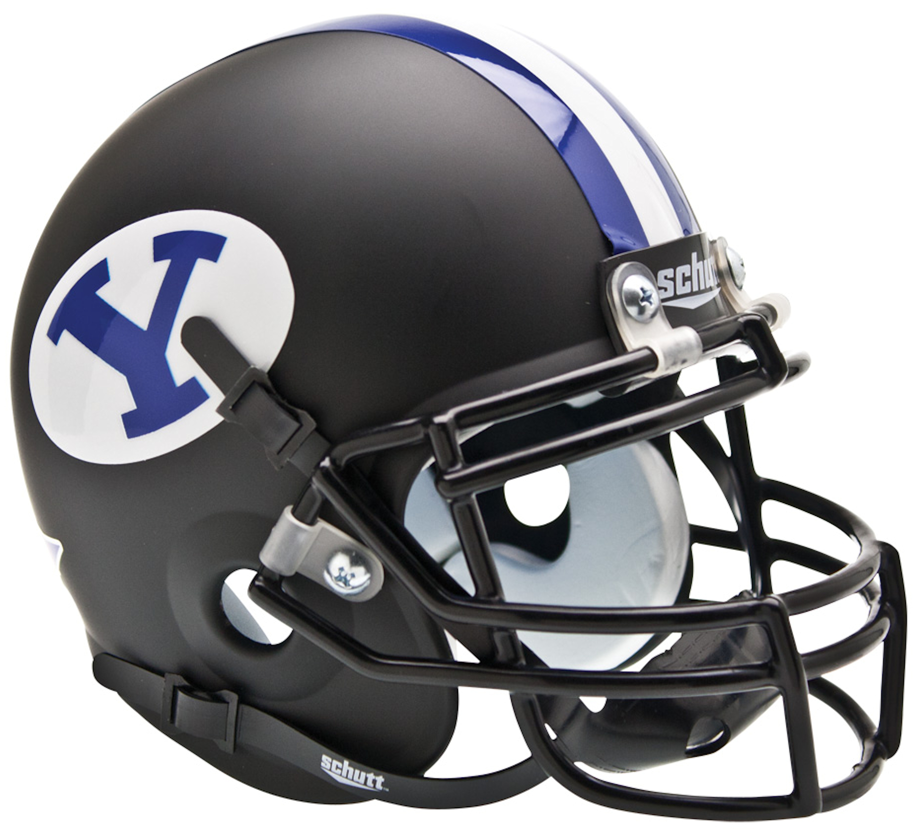 Brigham Young Cougars Mini XP Authentic Helmet Schutt <B>Black</B>