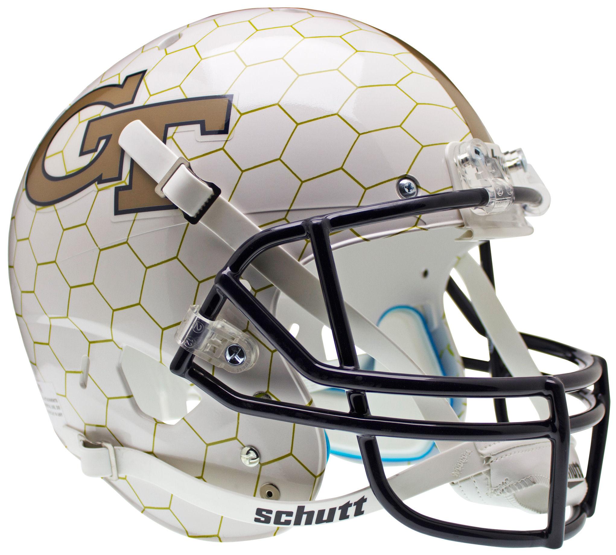 Georgia Tech Yellow Jackets Full XP Replica Football Helmet Schutt <B>Honeycomb</B>