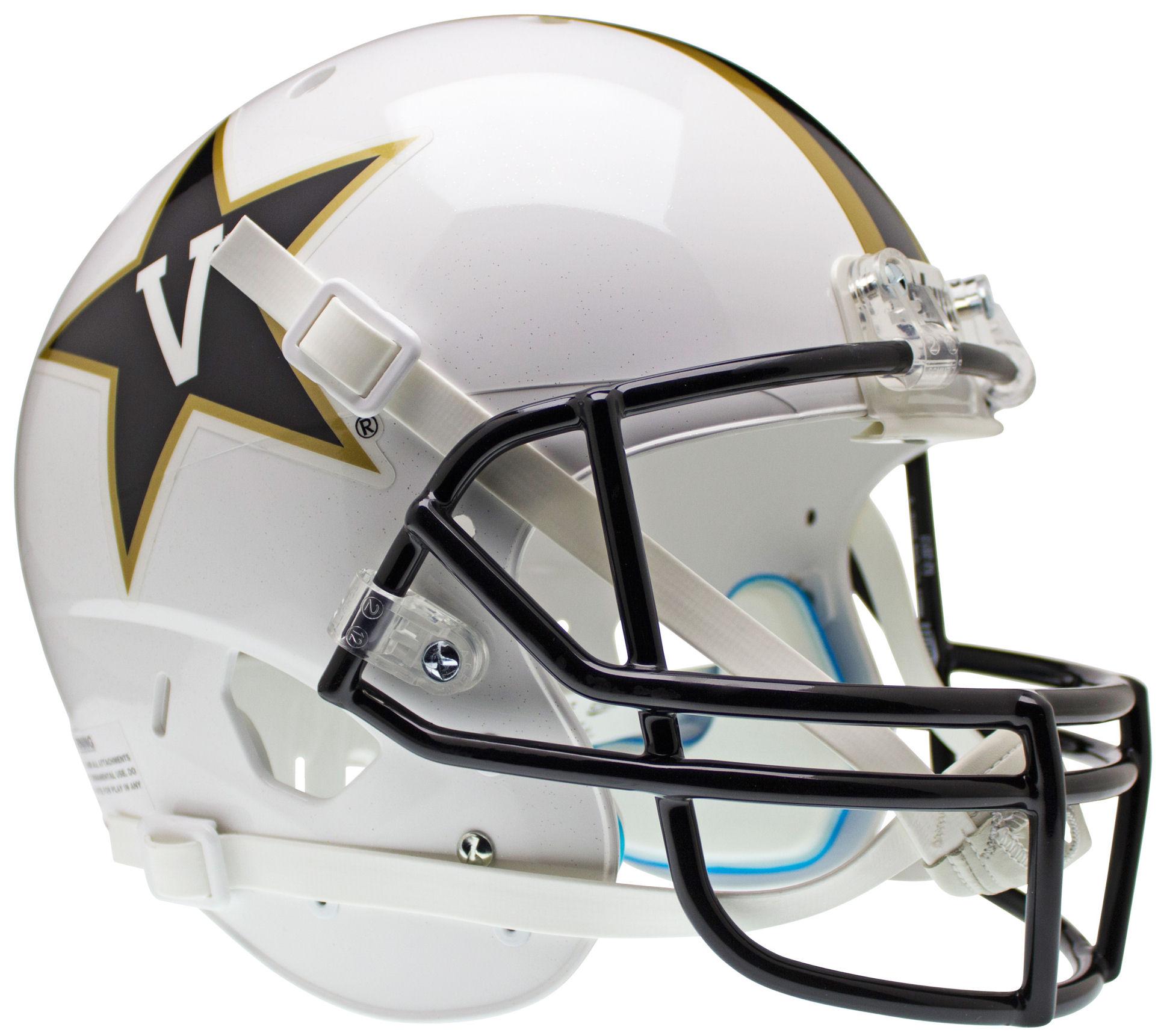 Vanderbilt Commodores Full XP Replica Football Helmet Schutt <B>White</B>