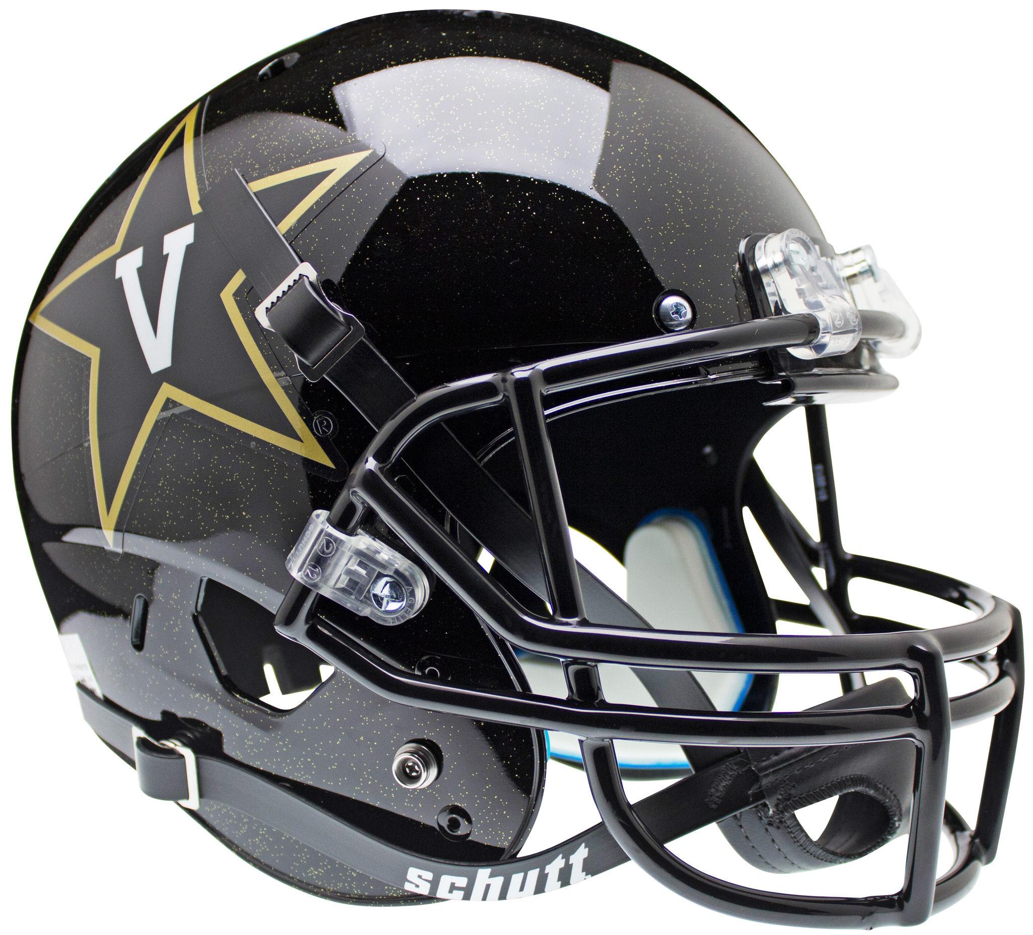 Vanderbilt Commodores Full XP Replica Football Helmet Schutt <B>Black<B>