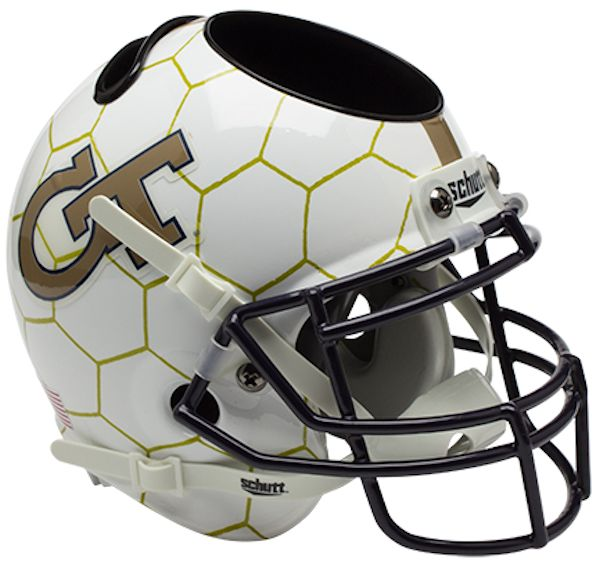 Georgia Tech Yellow Jackets Miniature Football Helmet Desk Caddy <B>Honeycomb</B>