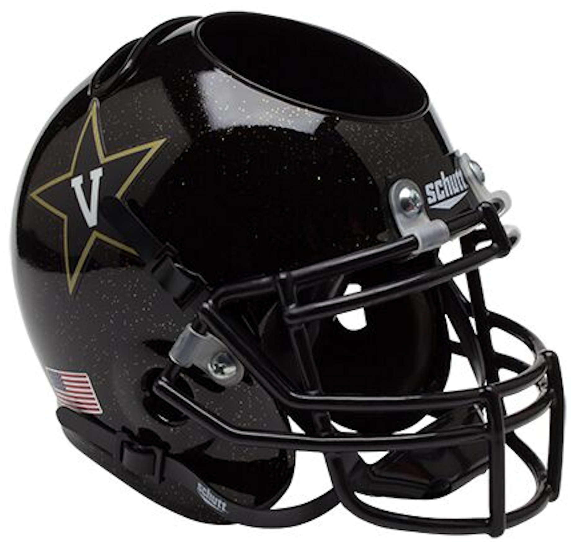 Vanderbilt Commodores Miniature Football Helmet Desk Caddy <B>Black</B>