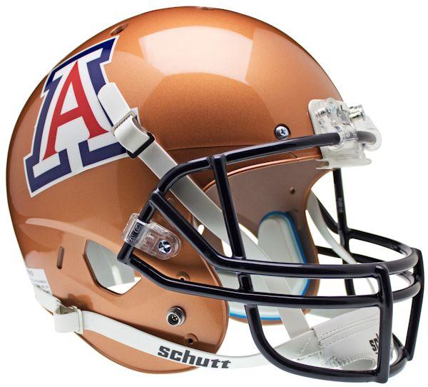 Arizona Wildcats Full XP Replica Football Helmet Schutt <B>Copper</B>