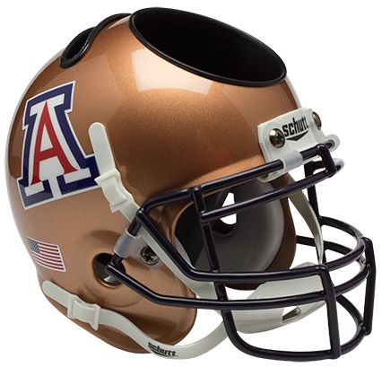 Arizona Wildcats Miniature Football Helmet Desk Caddy <B>Copper</B>
