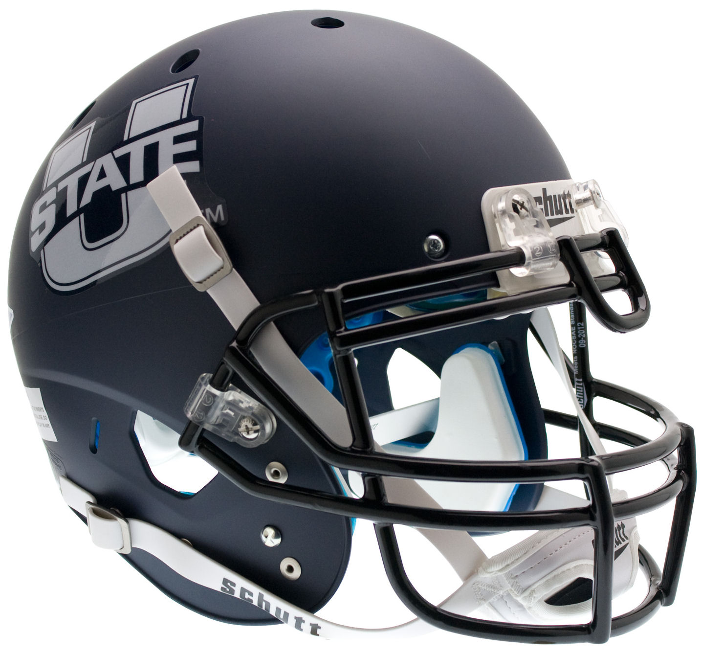 Utah State Aggies Authentic College XP Football Helmet Schutt <B>Matte Navy</B>