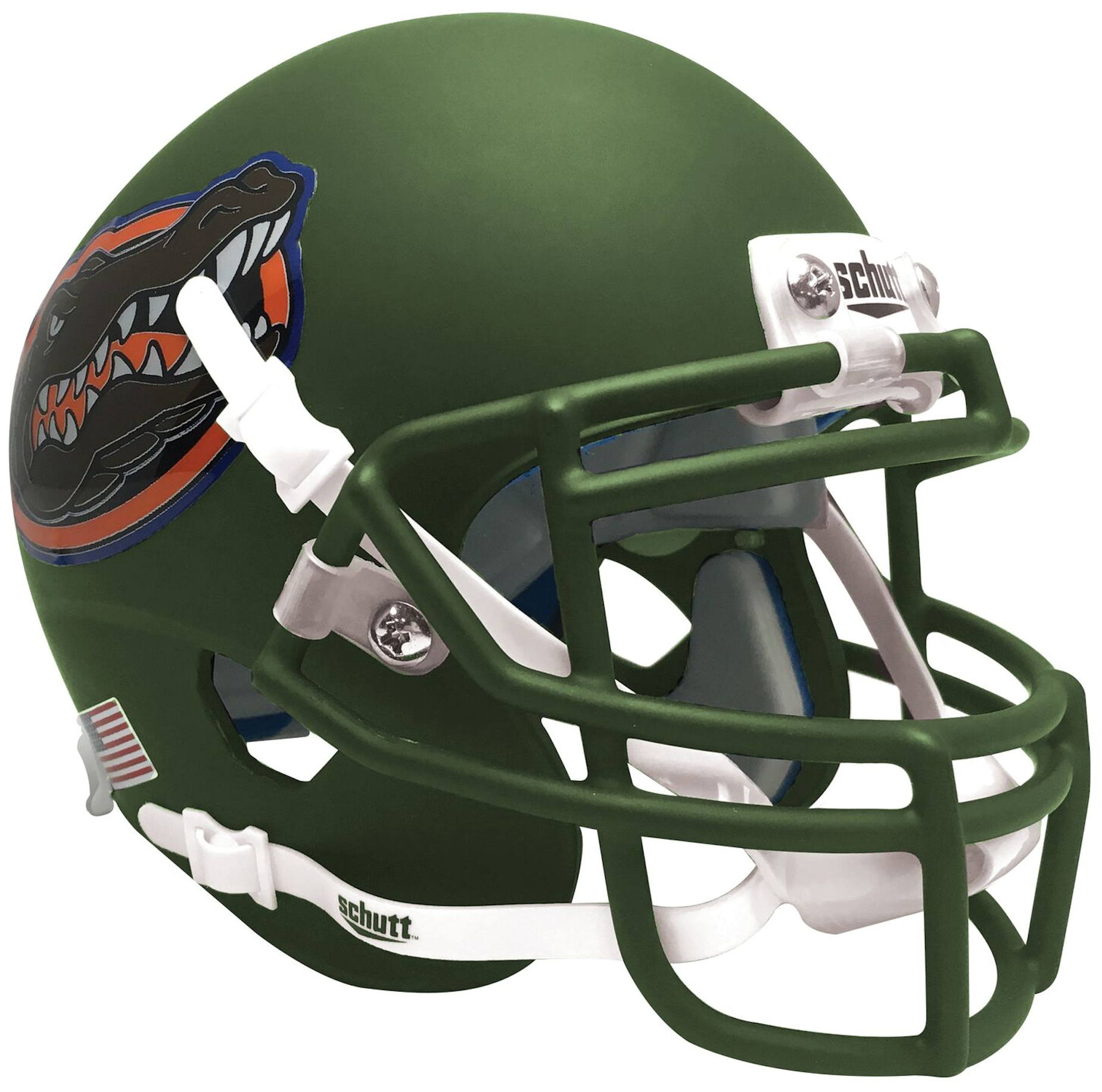 Florida Gators Full XP Replica Football Helmet Schutt <B>Matte Green</B>