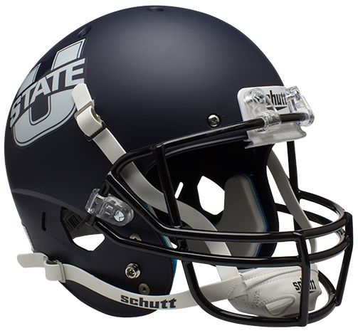 Utah State Aggies Full XP Replica Football Helmet Schutt <B>Matte Navy</B>