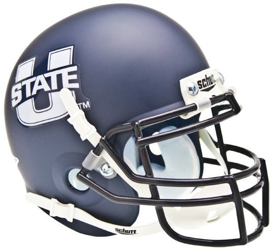 Utah State Aggies Mini XP Authentic Helmet Schutt <B>Matte Navy</B>