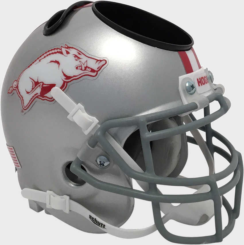 Arkansas Razorbacks Miniature Football Helmet Desk Caddy <B>Grey</B>