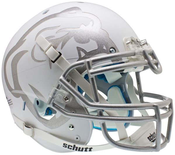 Mississippi State Bulldogs Authentic College XP Football Helmet Schutt <B>Matte White Laser Etched</B>