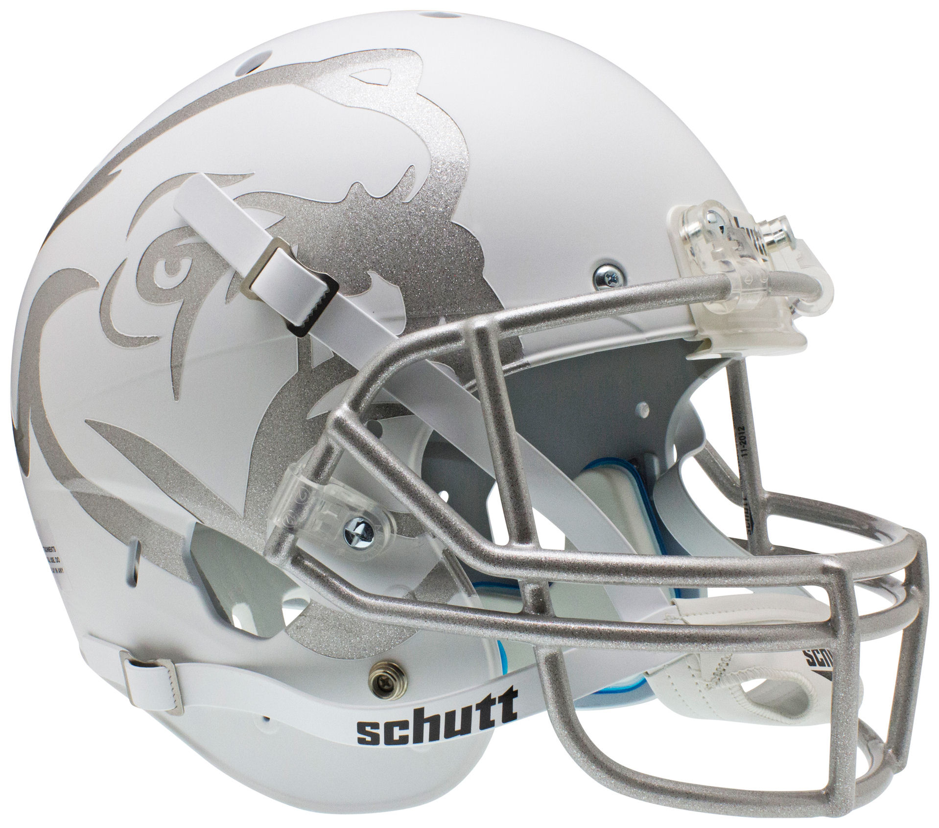 Mississippi State Bulldogs Full XP Replica Football Helmet Schutt <B>Matte White Laser Etched</B>