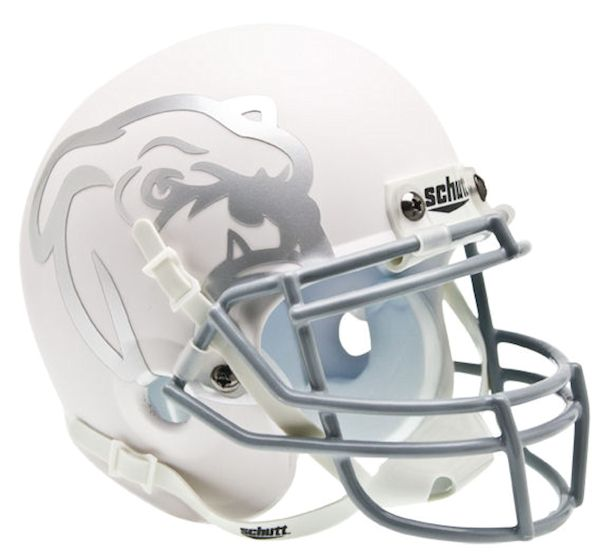 Mississippi State Bulldogs Mini XP Authentic Helmet Schutt <B>Matte White</B>