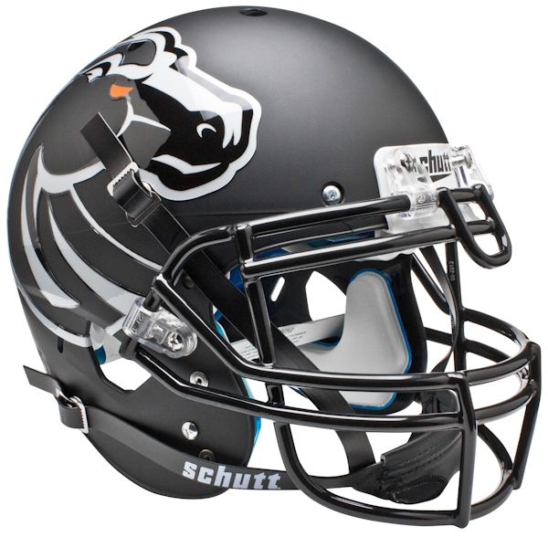 Boise State Broncos Authentic College XP Football Helmet Schutt <B>Matte Black</B>