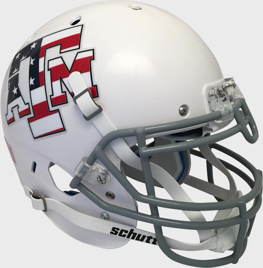 Texas A&M Aggies Authentic College XP Football Helmet Schutt <B>White</B>
