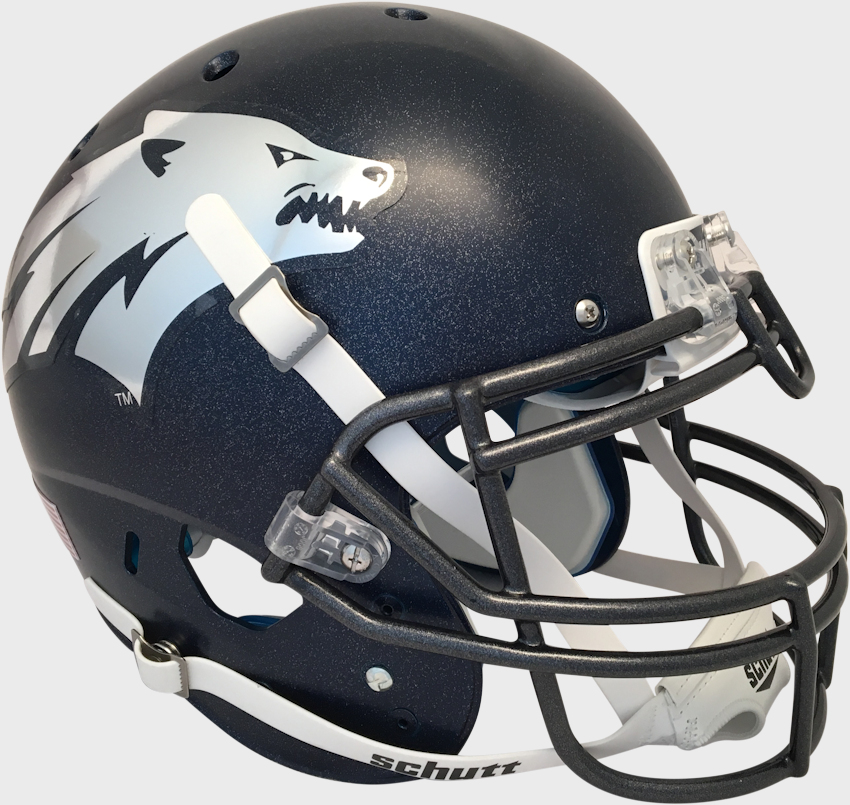 Nevada Wolfpack Authentic College XP Football Helmet Schutt <B>Matte</B>
