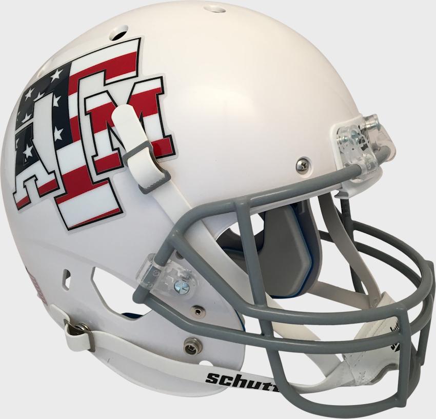 Texas A&M Aggies Full XP Replica Football Helmet Schutt <B>White</B>