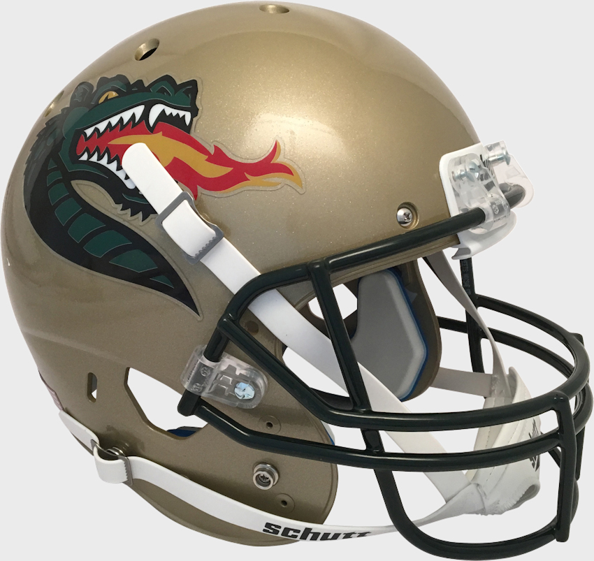 Alabama-Birmingham (UAB) Blazers Full XP Replica Football Helmet Schutt <B>Gold</B>
