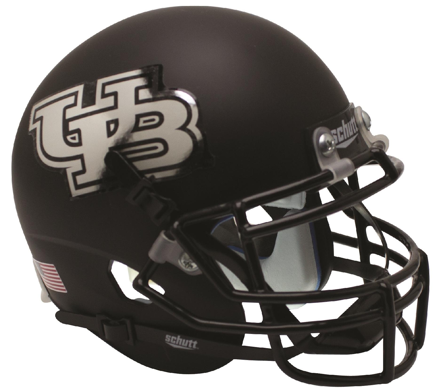 Buffalo Bulls Authentic College XP Football Helmet Schutt <B>Matte Black</B>