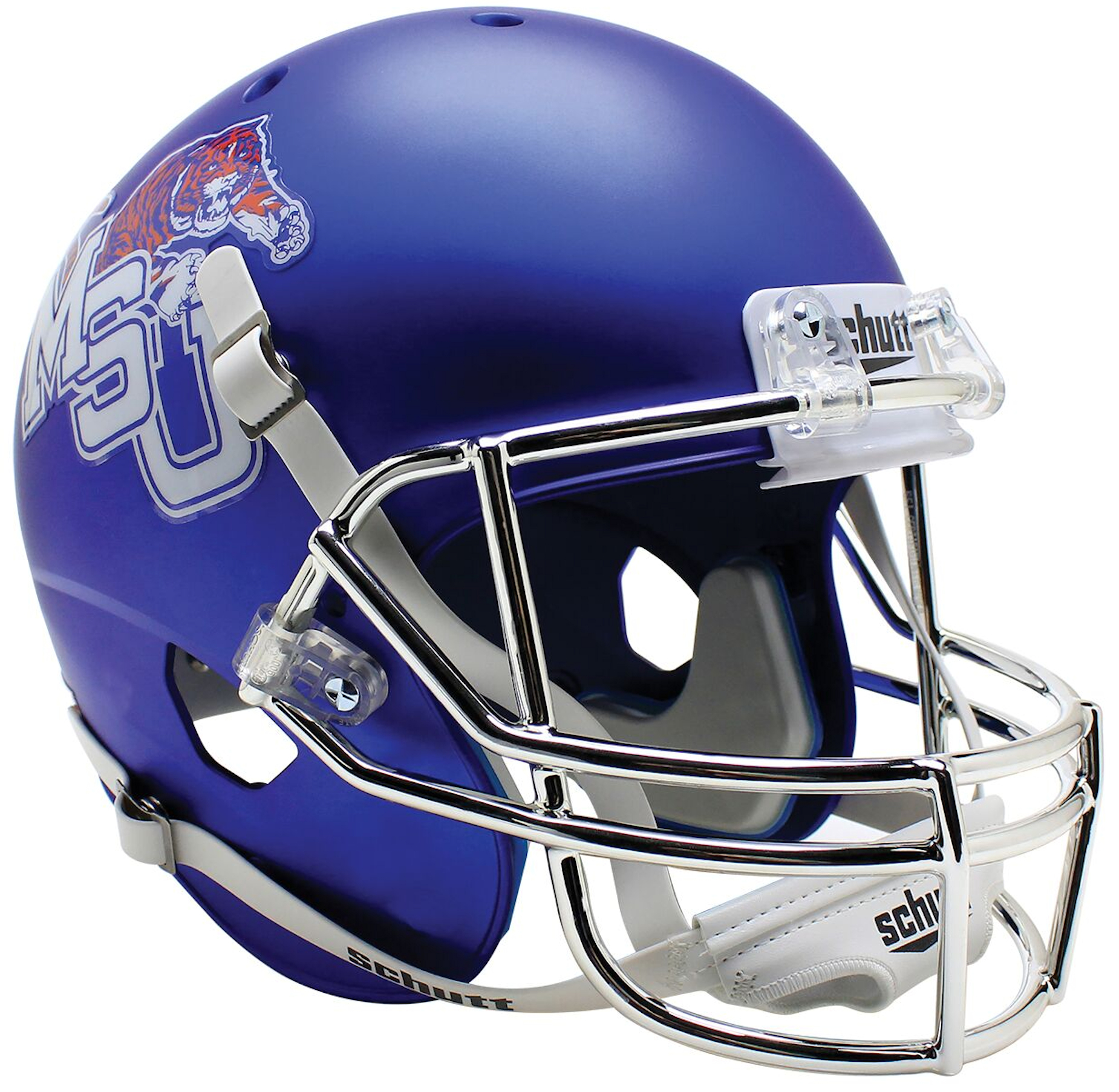 Memphis Tigers Miniature Football Helmet Desk Caddy <B>Satin Blue</B>
