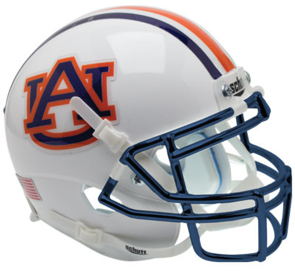 Auburn Tigers Full XP Replica Football Helmet Schutt <B>Chrome Mask</B>