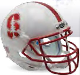 Stanford Cardinal Full XP Replica Football Helmet Schutt <B>Chrome Mask and Decal</B>