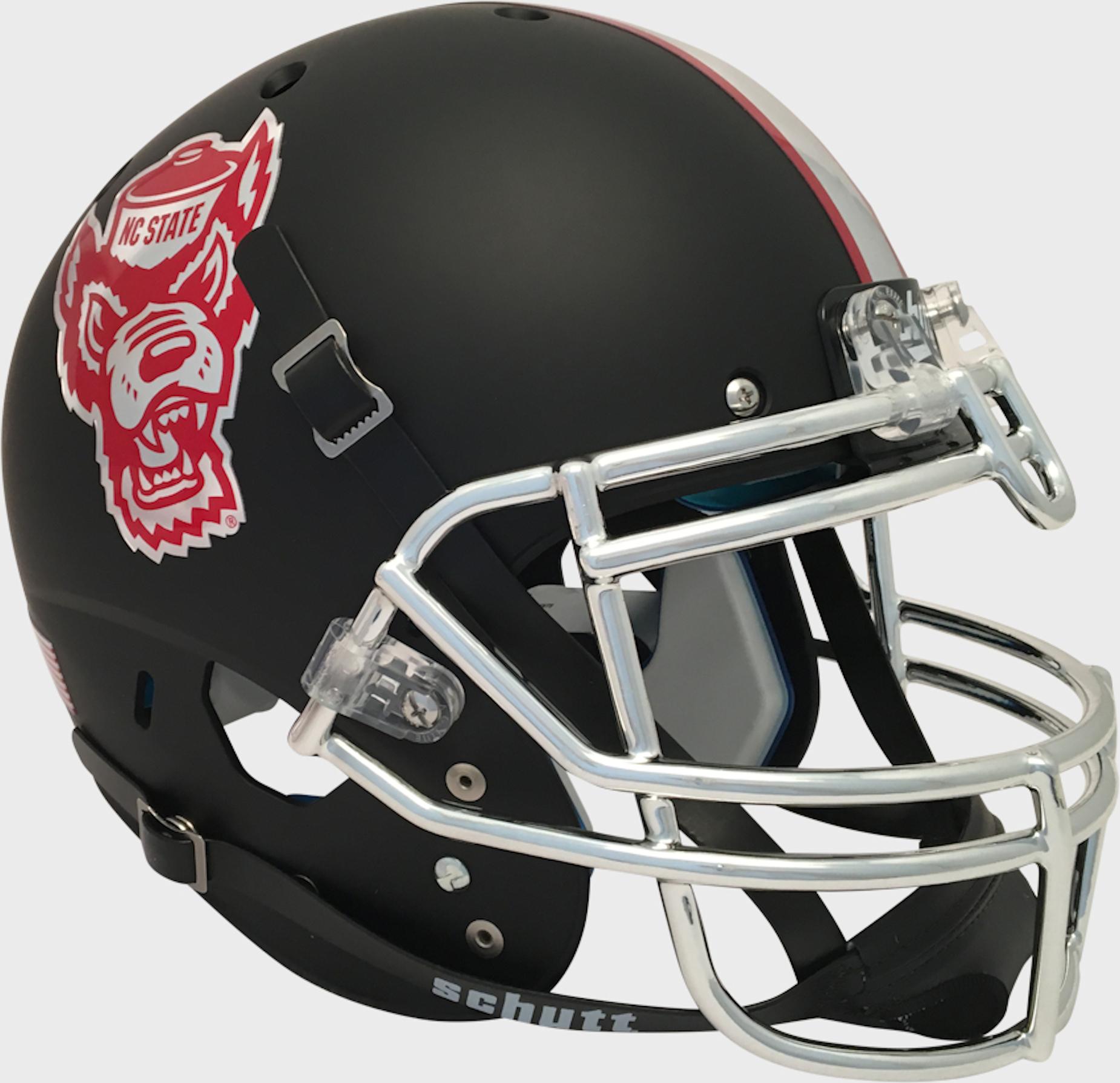 North Carolina State Wolfpack Authentic College XP Football Helmet Schutt <B>Matte Black</B>