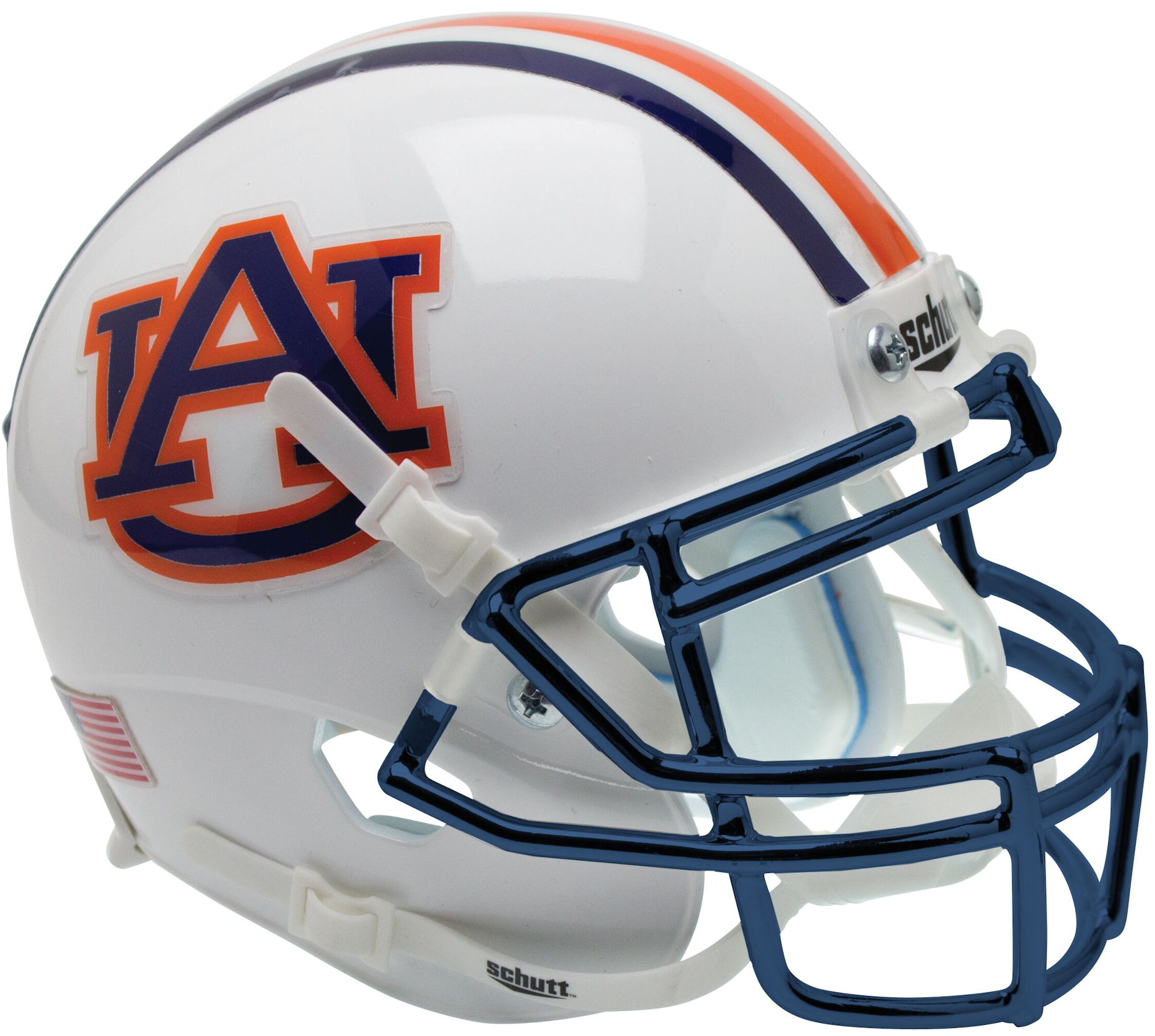 Auburn Tigers Mini XP Authentic Helmet Schutt <B>Chrome Mask</B>
