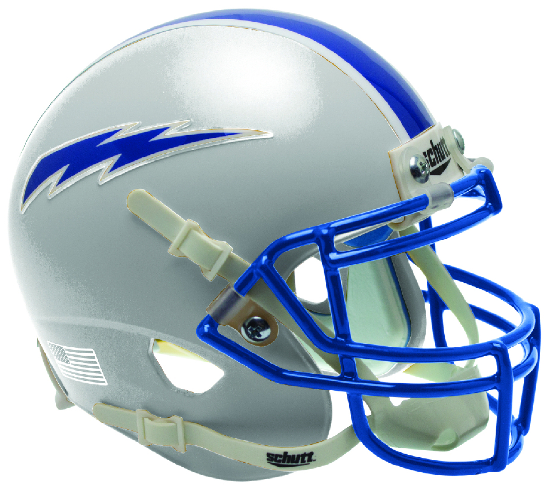 Air Force Falcons Authentic College XP Football Helmet Schutt <B>Matte Gray</B>