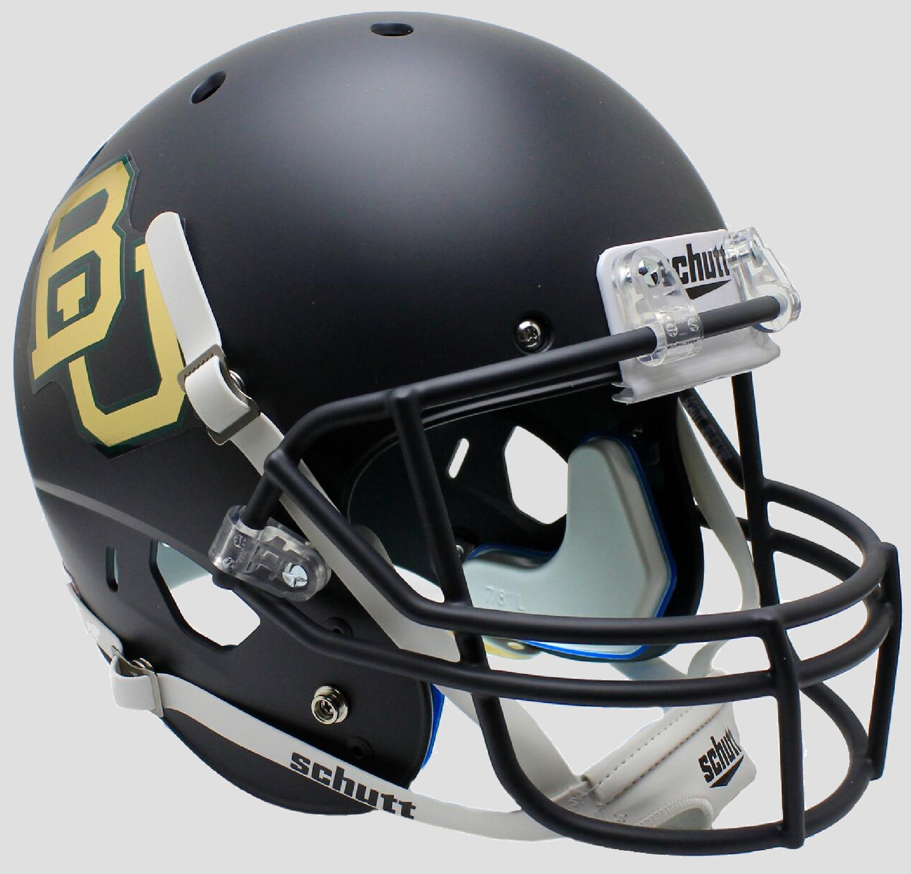 Baylor Bears Full XP Replica Football Helmet Schutt  <B>Matte Anthracite Chrome Decal</B>