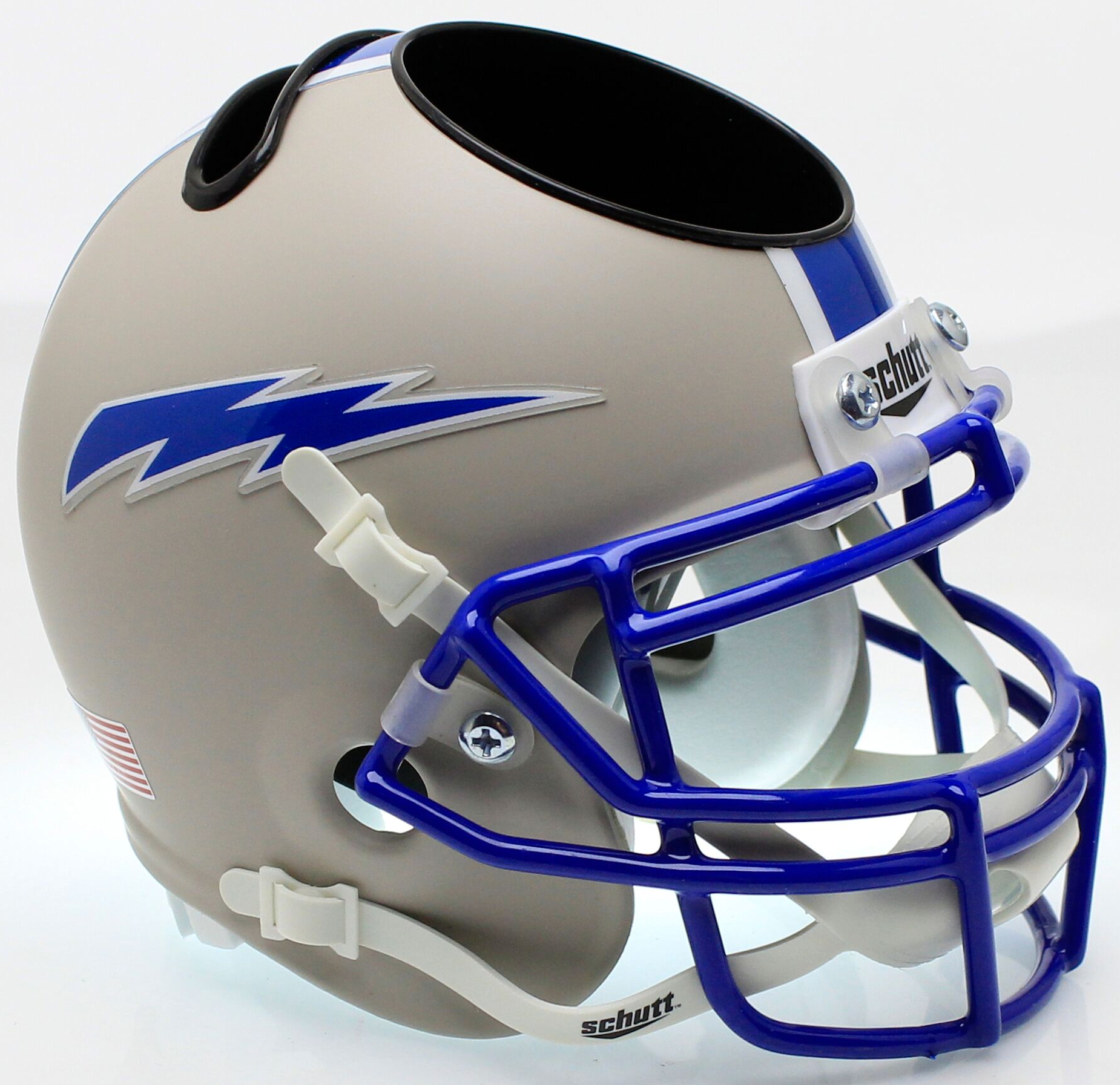 Air Force Falcons Mini Football Helmet Desk Caddy <B>Matte Gray</B>