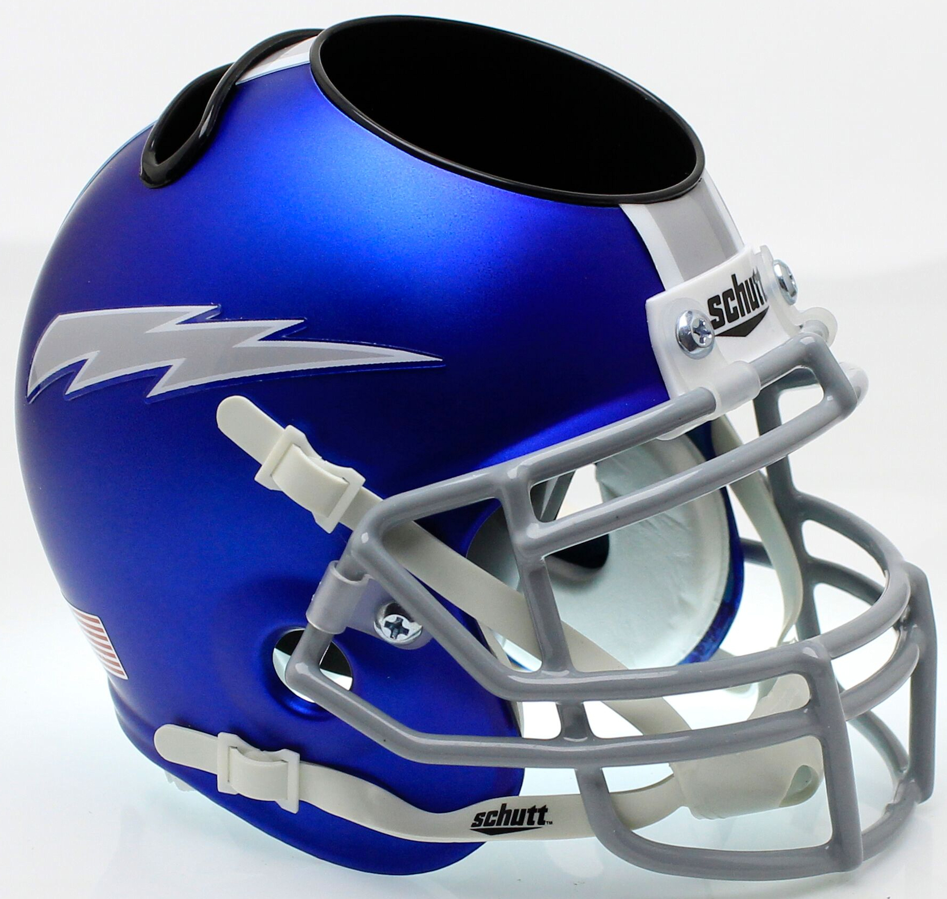 Air Force Falcons Mini Football Helmet Desk Caddy <B>Satin Blue</B>