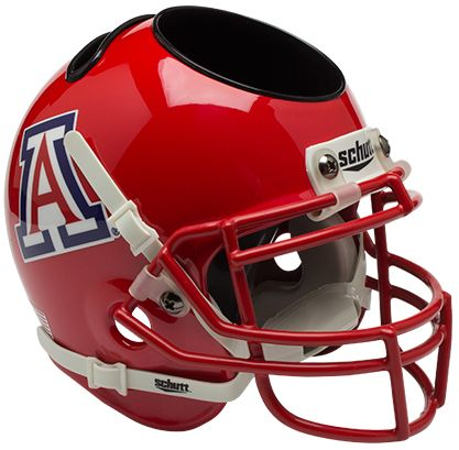 Arizona Wildcats Miniature Football Helmet Desk Caddy <B>Scarlet</B>