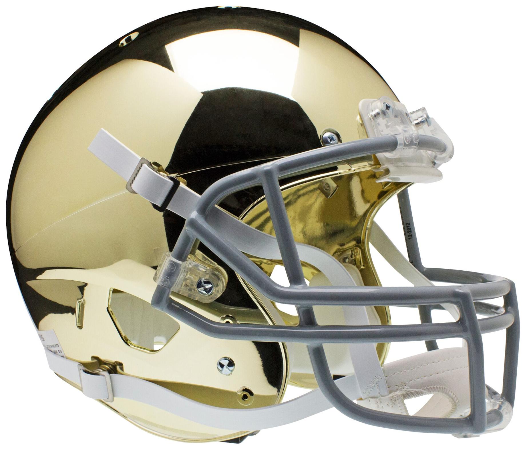 Notre Dame Fighting Irish Full XP Replica Football Helmet Schutt <B>Gold</B>