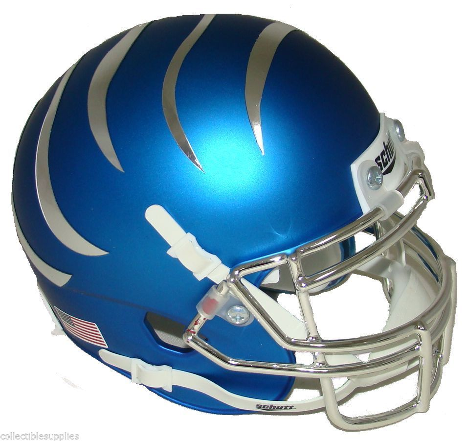 Memphis Tigers Miniature Football Helmet Desk Caddy <B>Matte Blue</B>