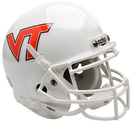 Virginia Tech Hokies Mini Authentic Helmet Schutt <B>White</B>