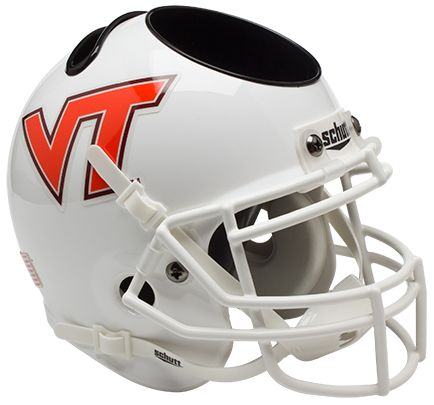 Virginia Tech Hokies Miniature Football Helmet Desk Caddy <B>White</B>