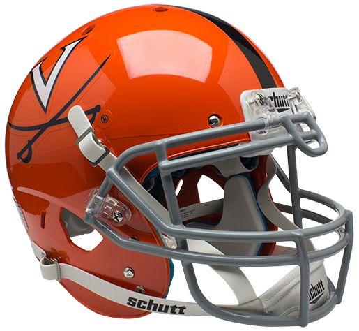 Virginia Cavaliers Authentic College XP Football Helmet Schutt <B>Orange w/Stripe</B>