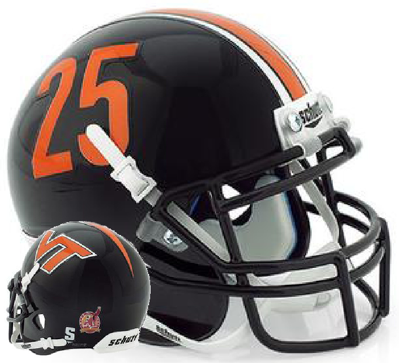 Virginia Tech Hokies Mini XP Authentic Helmet Schutt <B>Frank Beamer</B>