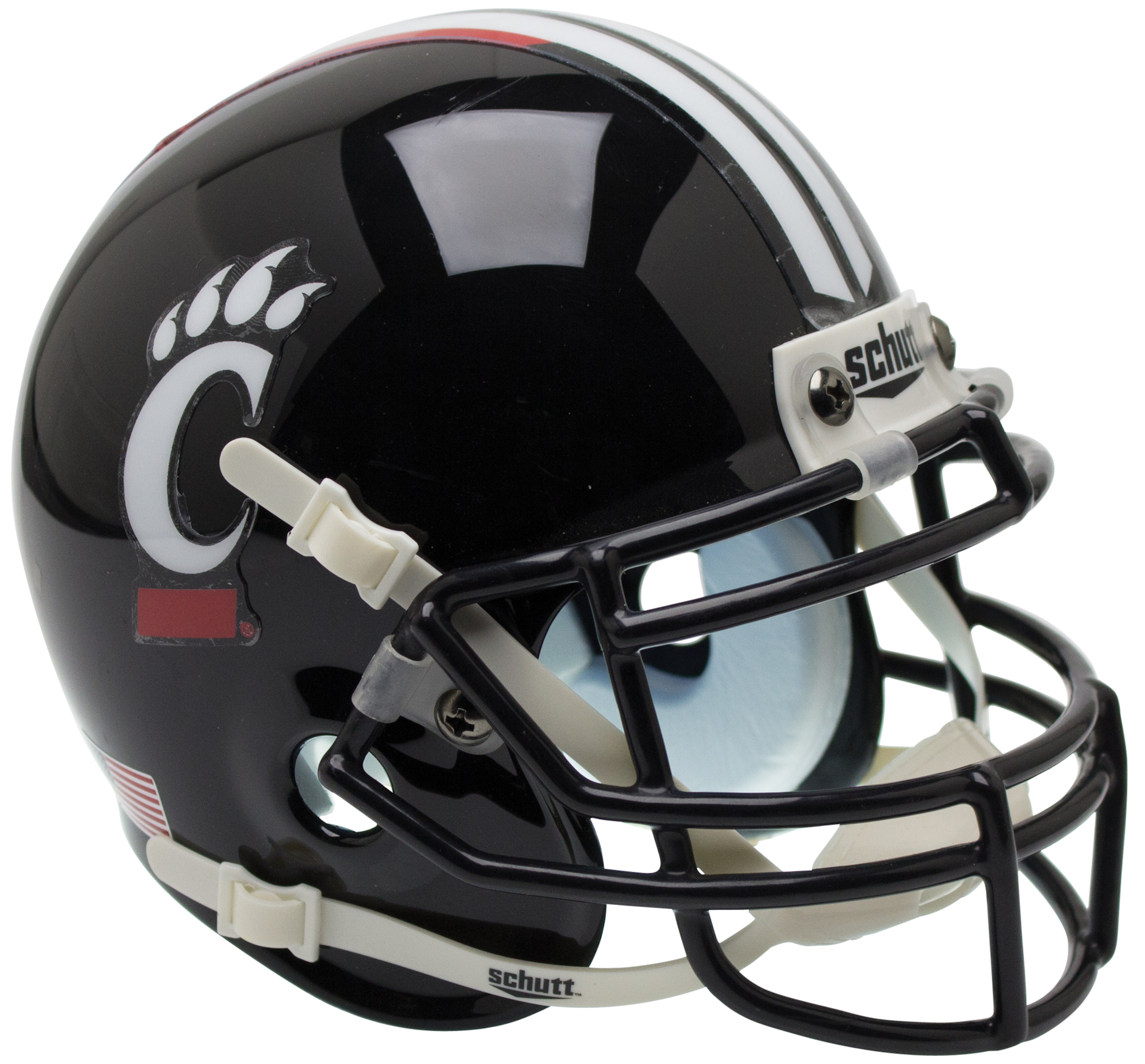 Cincinnati Bearcats Full XP Replica Football Helmet Schutt <B>Black</B>