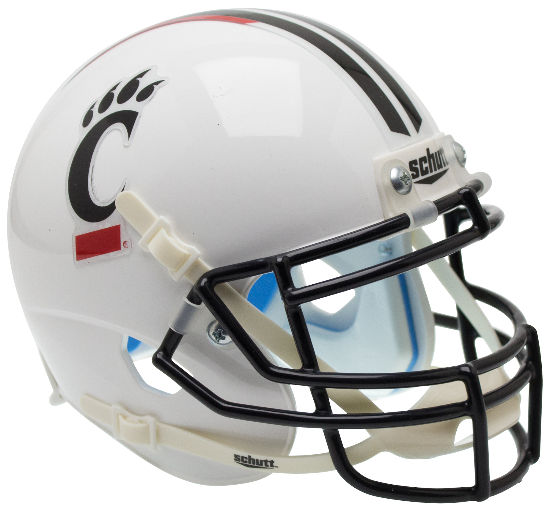Cincinnati Bearcats Full XP Replica Football Helmet Schutt <B>Matte White</B>