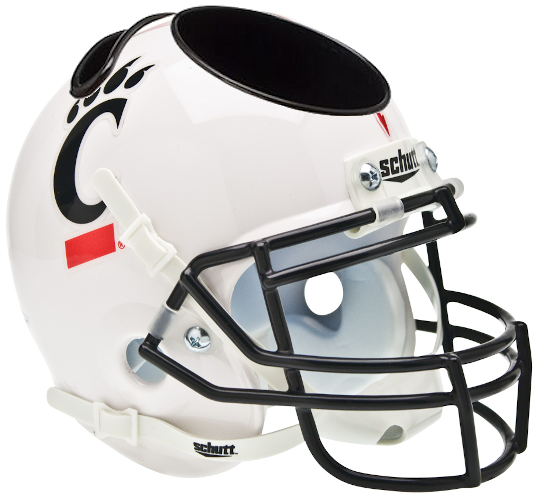 Cincinnati Bearcats Mini Football Helmet Desk Caddy <B>White</B>