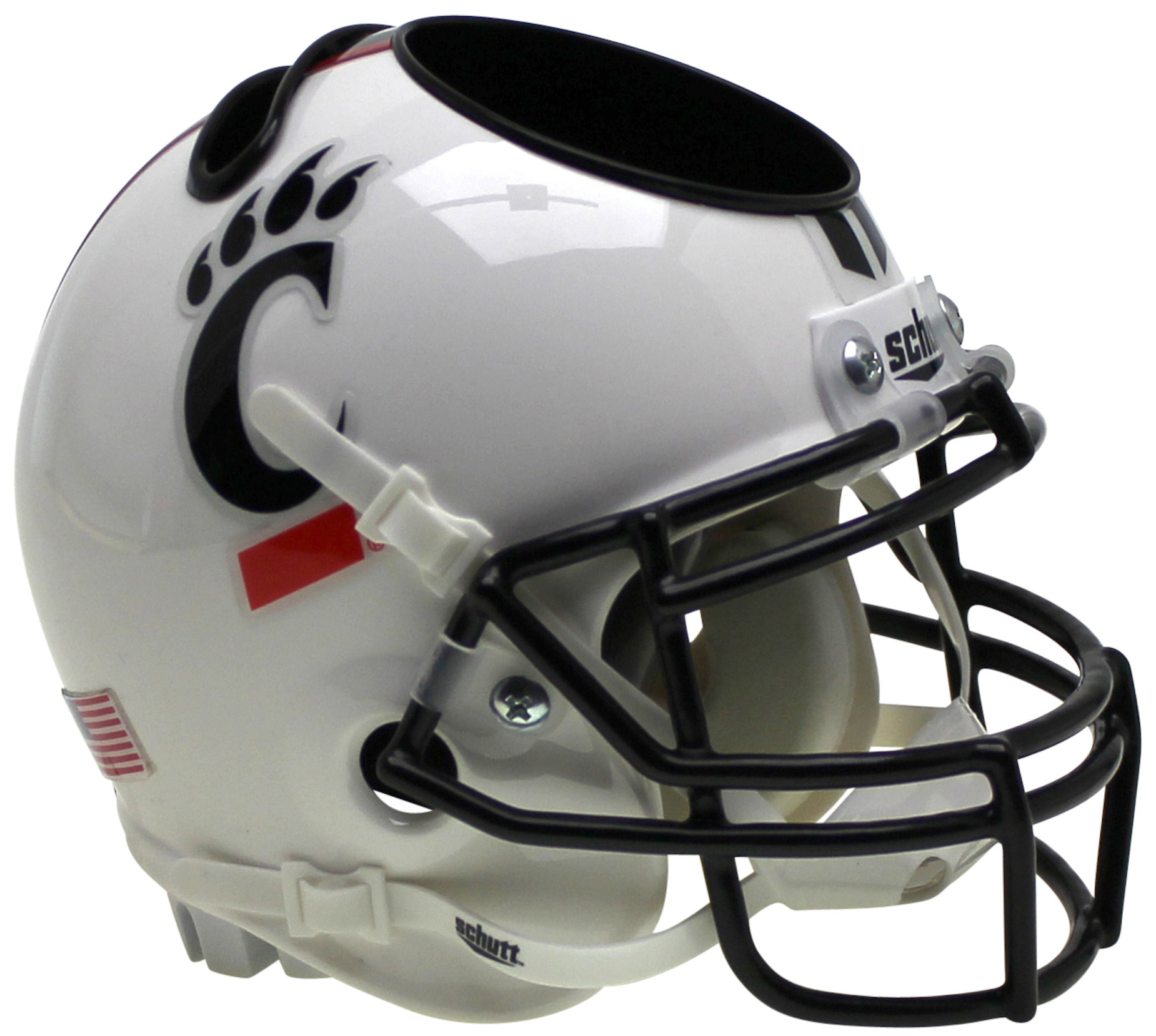 Cincinnati Bearcats Mini Football Helmet Desk Caddy <B>Matte White</B>