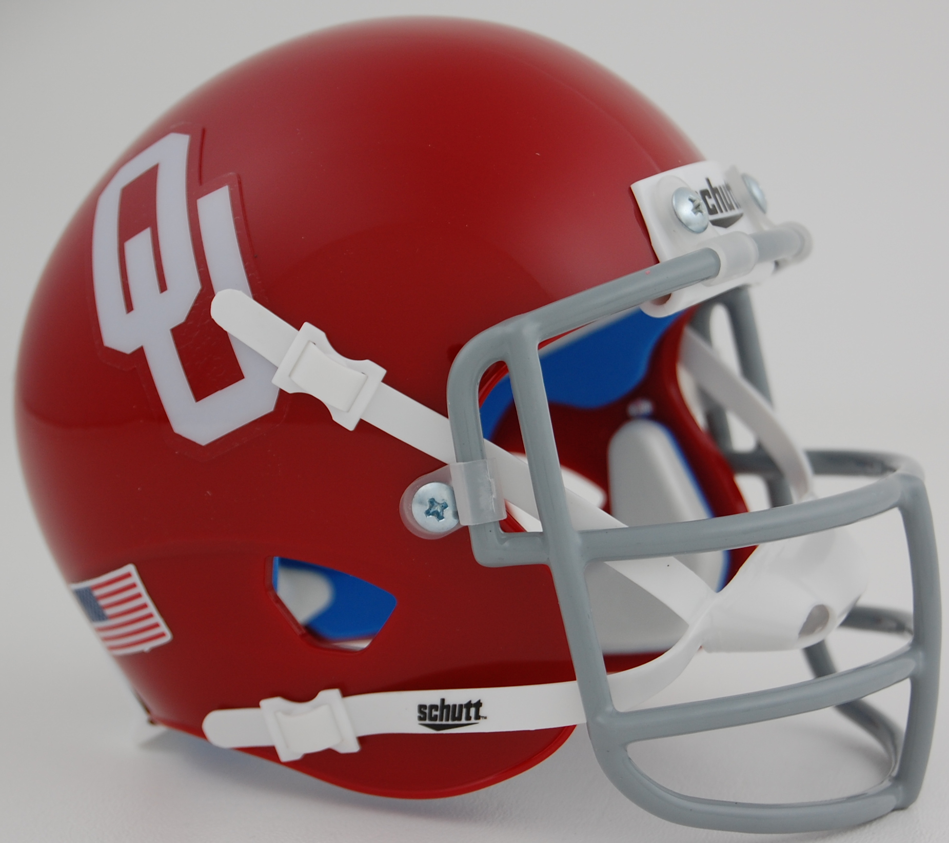 Oklahoma Sooners 1967 to 1976 Throwback Schutt Mini Authentic Helmet