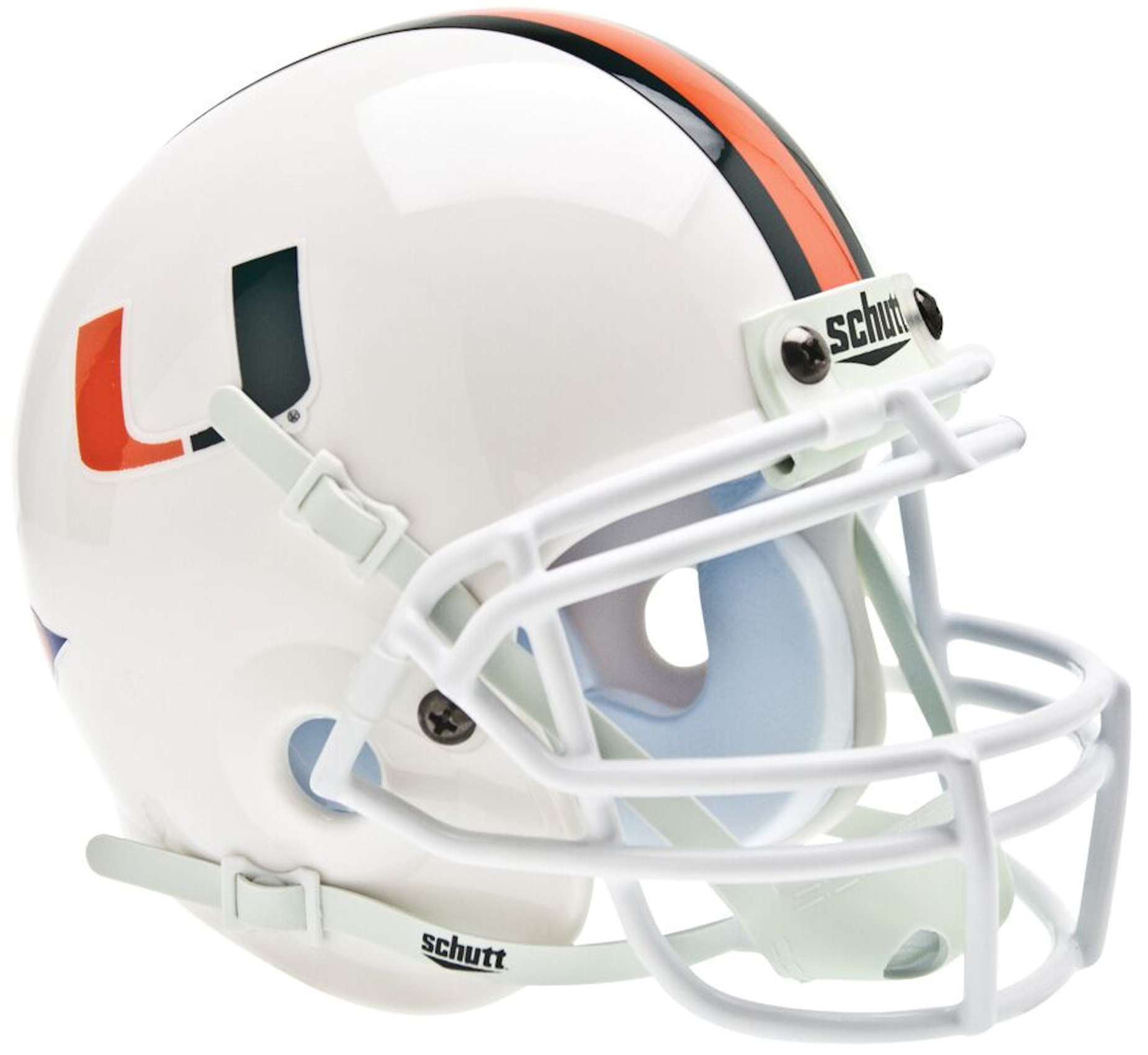 Miami Hurricanes Mini XP Authentic Helmet Schutt