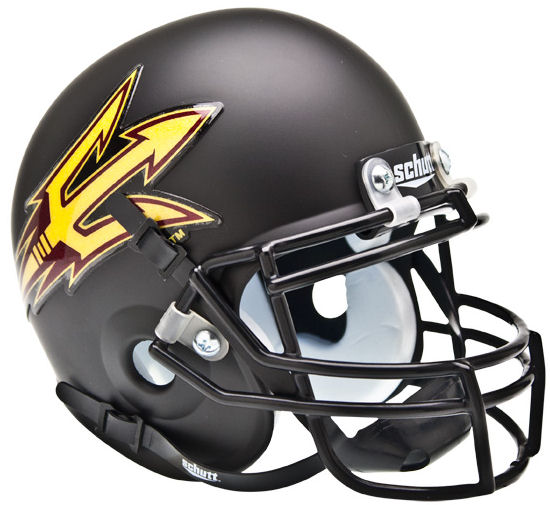 Arizona State Sun Devils Mini XP Authentic Helmet Schutt <B>Matte Black</B>
