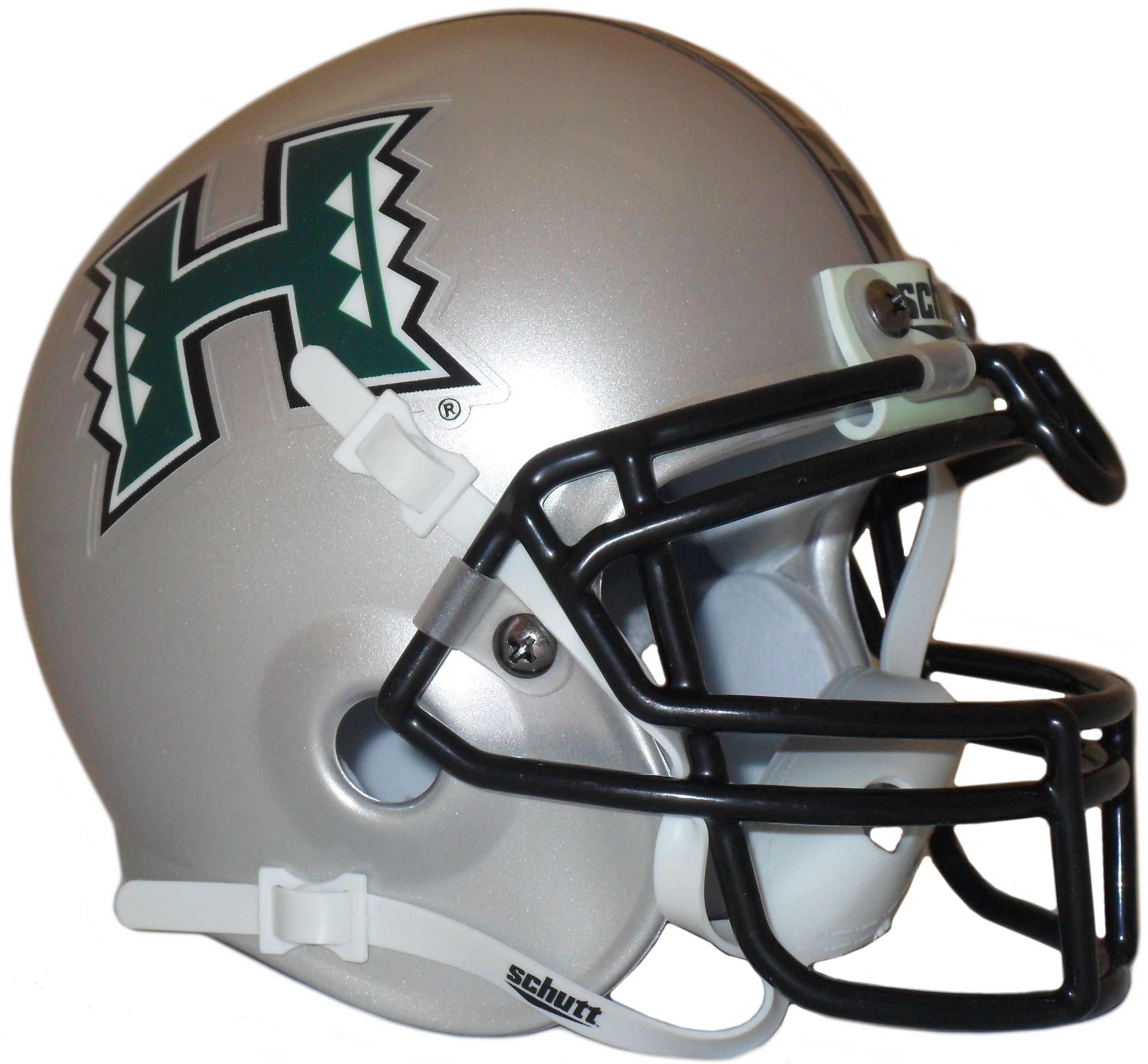 Hawaii Warriors Mini Authentic Helmet Schutt <B>Silver</B>