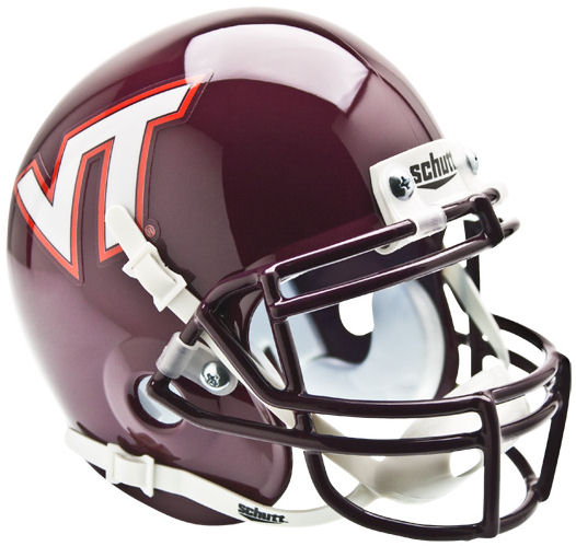 Virginia Tech Hokies Mini XP Authentic Helmet Schutt